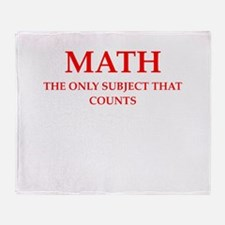 math Throw Blanket