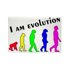 I am evolution Rectangle Magnet