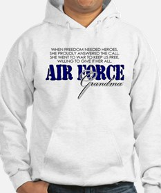 When freedom needed heroes: USAF Grandma Hoodie
