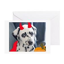 Pixel at Halloween Greeting Cards