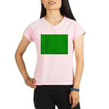 WOOL knit green cable desi Performance Dry T-Shirt