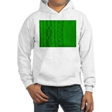 WOOL knit green cable design Hoodie