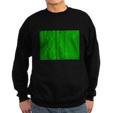 WOOL knit green cable design Sweatshirt