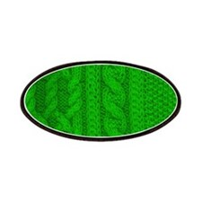 WOOL knit green cable design Patch
