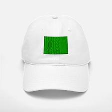 WOOL knit green cable design Baseball Baseball Cap