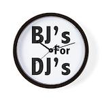 BJs for Djs Wall Clock