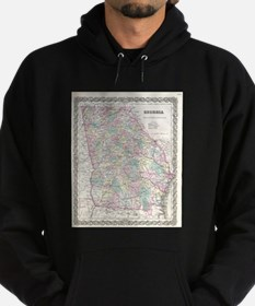 Vintage Map of Georgia (1855) Hoodie (dark)