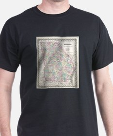 Vintage Map of Georgia (1855) T-Shirt