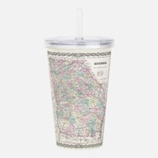 Vintage Map of Georgia Acrylic Double-wall Tumbler