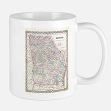 Vintage Map of Georgia (1855) Mugs