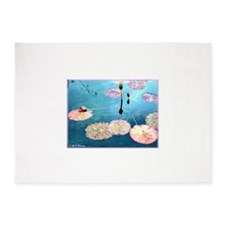 Water Lilies! Nature Photo! 5'x7'Area Rug