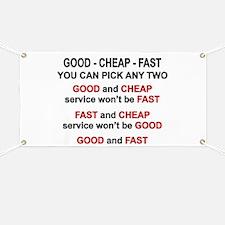 Good, Cheap, Fast Pick 2 Banner