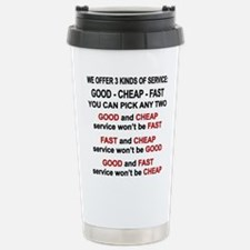 Good, Cheap, Fast Pick Stainless Steel Travel Mug