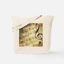 Grunge Music Note Tote Bag