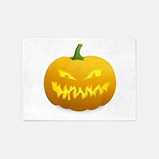 Halloween Pumpkin 5'x7'Area Rug
