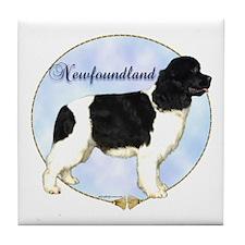 Newfie Portrait Tile Coaster