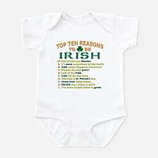 Top reasons to be Irish Infant Bodysuit