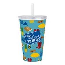 HIMYM Pattern Acrylic Double-wall Tumbler