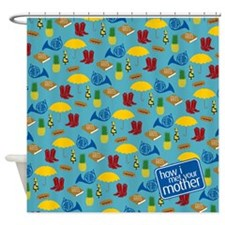 HIMYM Pattern Shower Curtain
