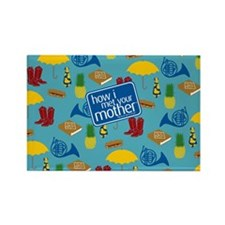 HIMYM Pattern Rectangle Magnet