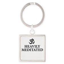 Heavily Meditated - funny yoga Keychains