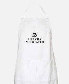 Heavily Meditated - funny yoga Apron