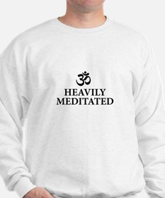 Heavily Meditated - funny yoga Sweatshirt