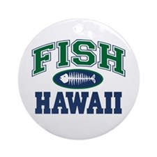 Fish Hawaii Ornament (Round)