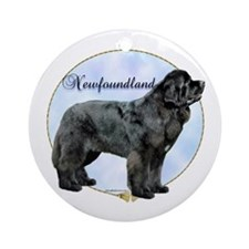Newfie Portrait Ornament (Round)