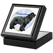 Newfie Portrait Keepsake Box