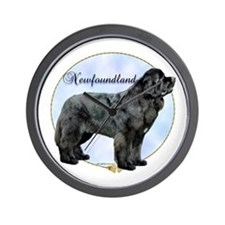 Newfie Portrait Wall Clock
