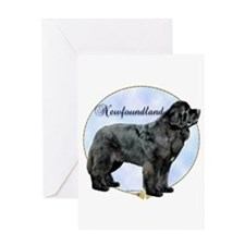 Newfie Portrait Greeting Card