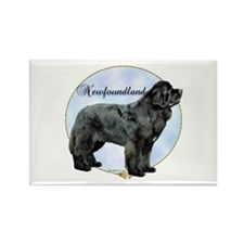 Newfie Portrait Rectangle Magnet