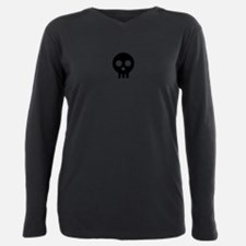 Cute Scary skull Plus Size Long Sleeve Tee