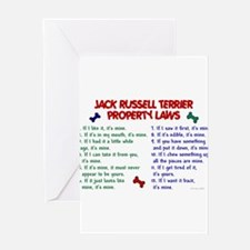 Unique Jack russell terrier Greeting Card
