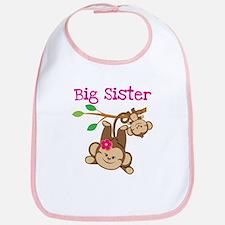 Monkey Big Sis W. Baby Bro Bib