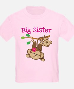 Monkey Big Sis W. Baby Bro T-Shirt