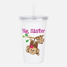 Monkey Big Sis W. Baby Acrylic Double-Wall Tumbler