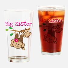 Monkey Big Sis W. Baby Bro Drinking Glass