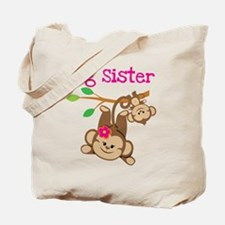 Monkey Big Sis W. Baby Bro Tote Bag
