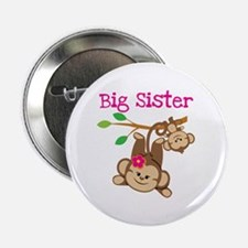 "Monkey Big Sis W. Baby Bro 2.25"" Button"