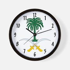 Emblem Of Saudi Arabia Wall Clock