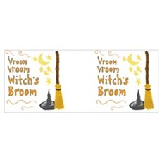 Vroom Vroom Witch's Broom Poster