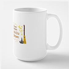 Vroom Vroom Witch's Broom Large Mug