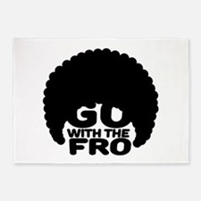 Go With the Fro 5'x7'Area Rug
