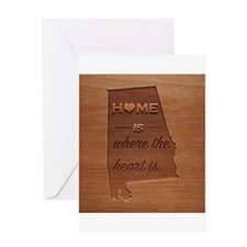 Home is where the heart is: Alabama Greeting Cards