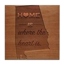 Home is where the heart is: Alabama Tile Coaster