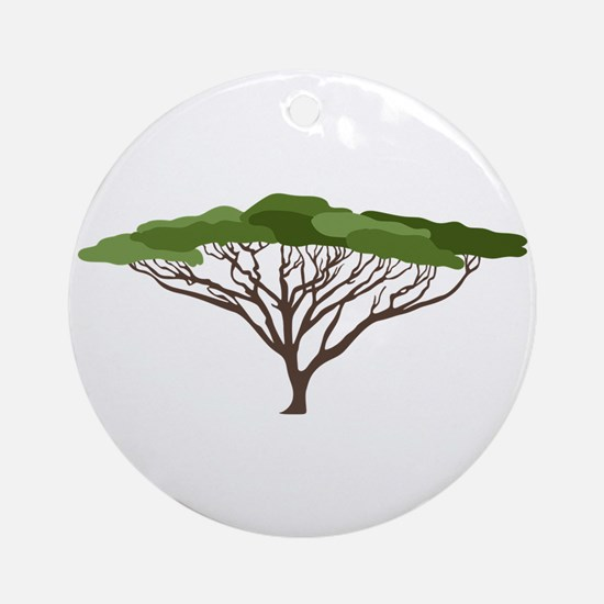 Acacia Tree Round Ornament