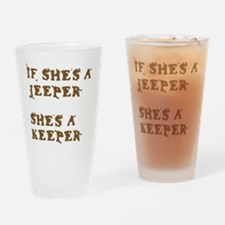 Funny Jeeps are for girls Drinking Glass