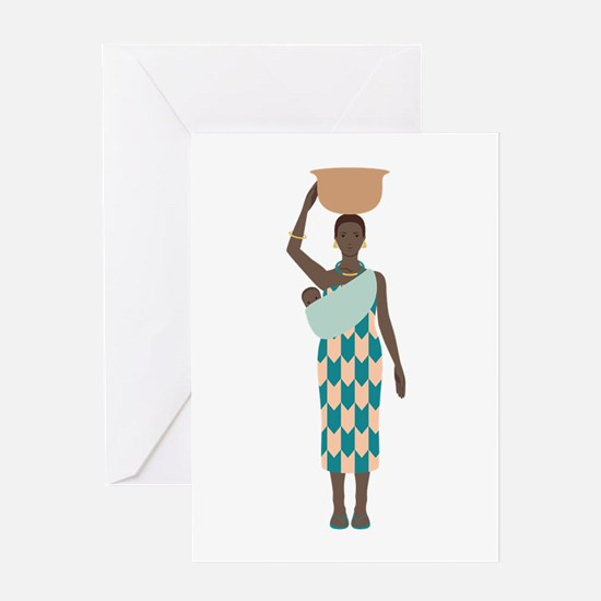 African Woman Greeting Cards